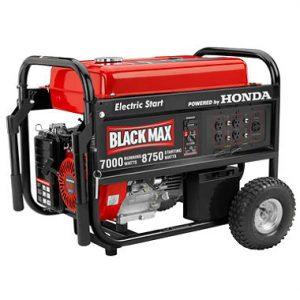 Black max 7000 watt generator review generator power source for Honda gx390 oil capacity